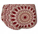 Burgundy Mandala Mini Shorts