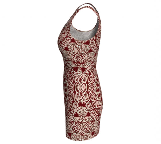Burgundy Mandala Dress