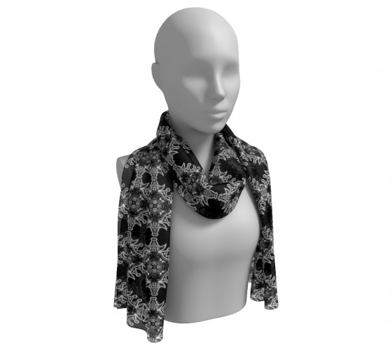 Unity Doves Black & White Scarf