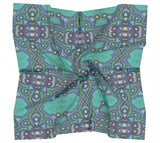 Green Eyes Square Scarf