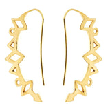 Mahina Crescent Moon Earrings Gold