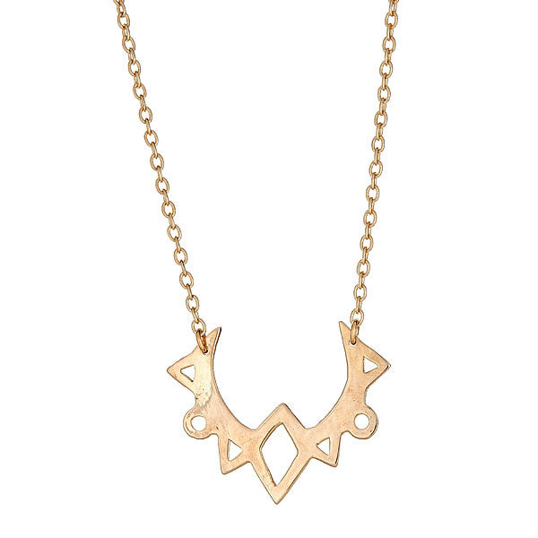 Mahina Crescent Moon Pendant Gold