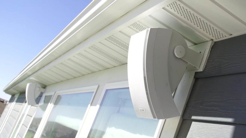 On wall outdoor speakers