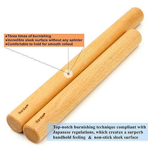 Bamber Wood Rolling Pin, 11 Inch by 1.2 Inch