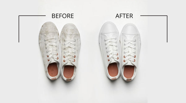 how to clean white shoes with bleach and baking soda