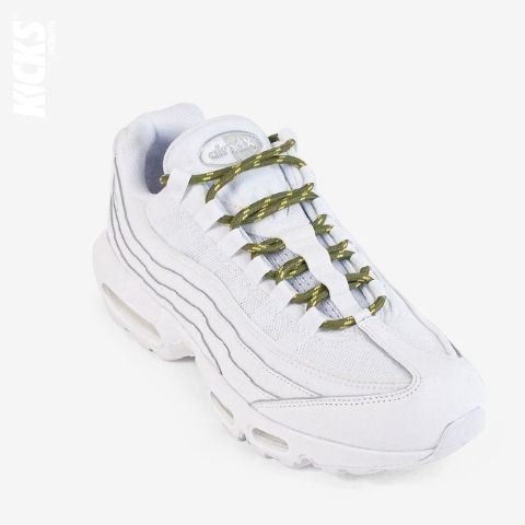 Army Green and Yellow Round Shoelaces