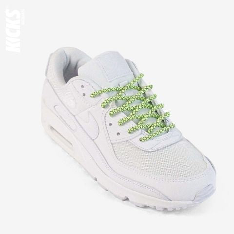 Fluorescent Green Reflective Rope Shoelaces
