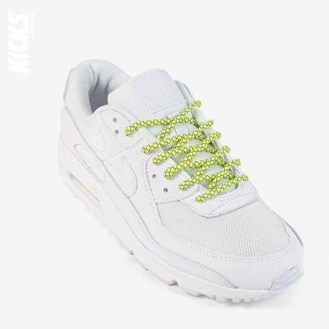 Fluorescent Yellow Reflective Rope Shoelaces