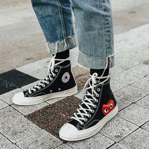 Kicks Shoelaces Converse High Tops Wrapping Shoelace Around Ankle