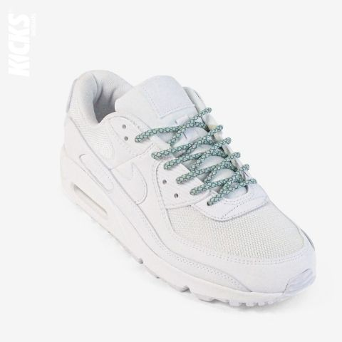 Pastel Green Reflective Rope Shoelaces