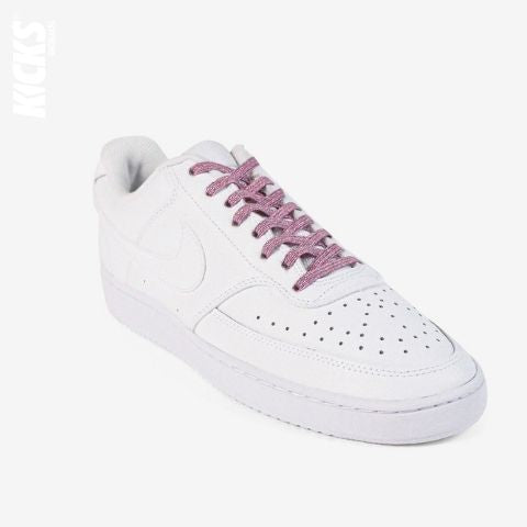 Pink Shimmer No Tie Shoelaces