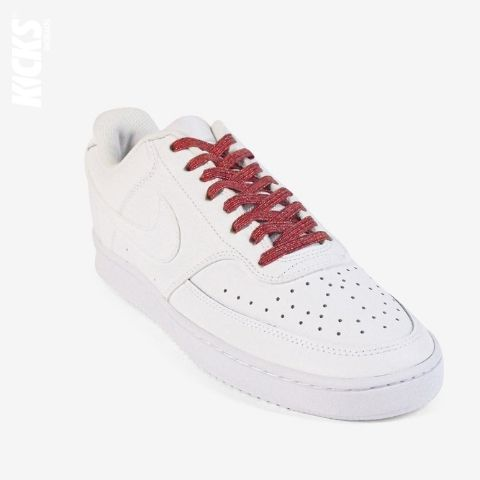 Red Shimmer No Tie Shoelaces