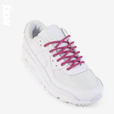 Rose Pink Reflective Rope Shoelaces