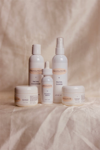 Daily Set: What's Included: Facial Cleanser (Step 1) Facial Toner (Step 2) Vitamin C Serum (Step 3) Hydrating Face Gel (Step 4) Hyaluronic Face Cream (Step 5) How To: Use products from Steps 1 to 5 as labelled on the bottle.