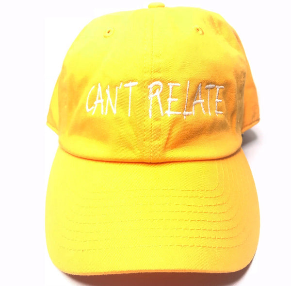 Can't relate by smooth individuality yellow cap