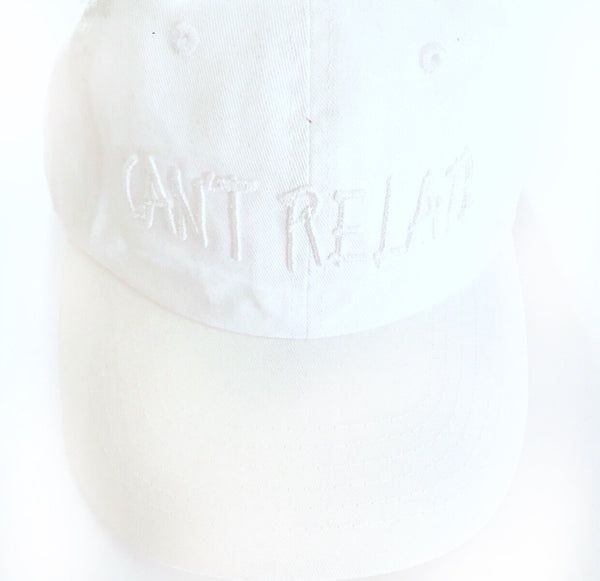 White/White can't relate dad hat