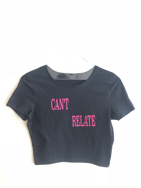 Can't relate cropped T-shirt