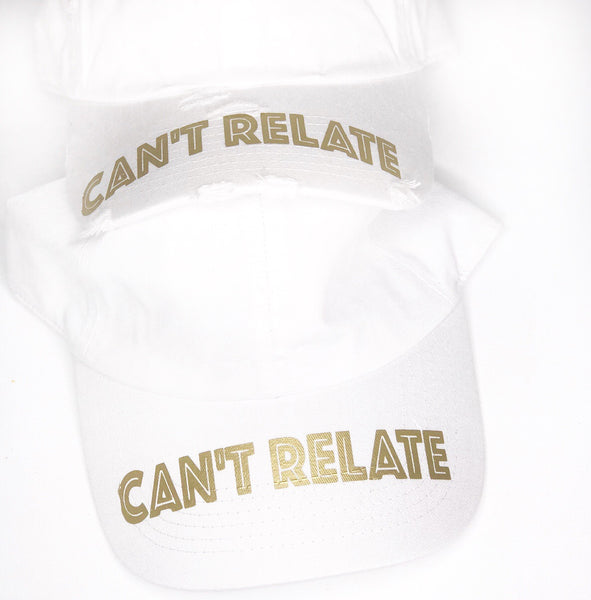 White X gold can't relate dad hat