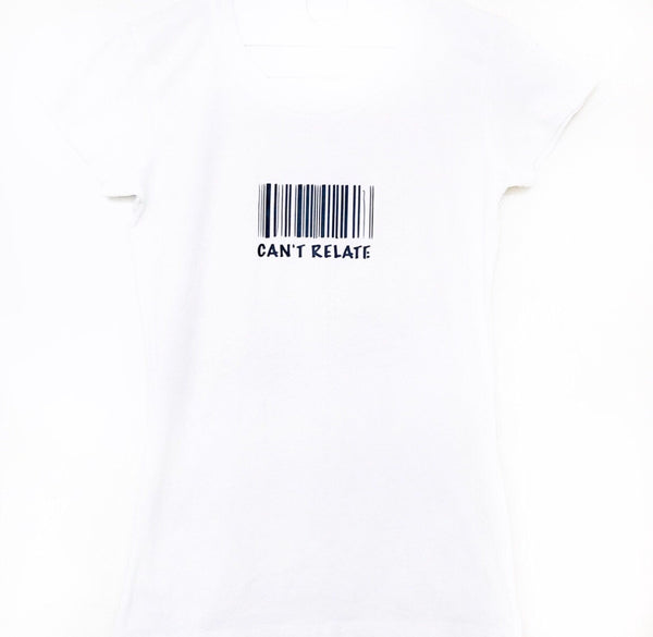 Can't relate barcode T-shirt