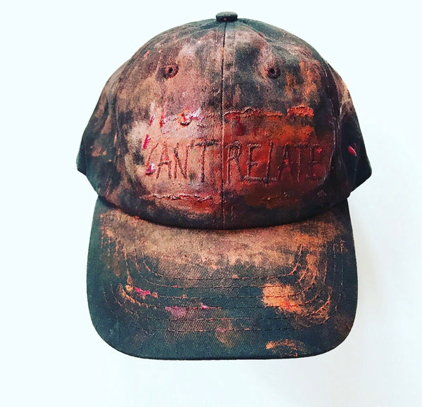 Can't relate hand painted hat