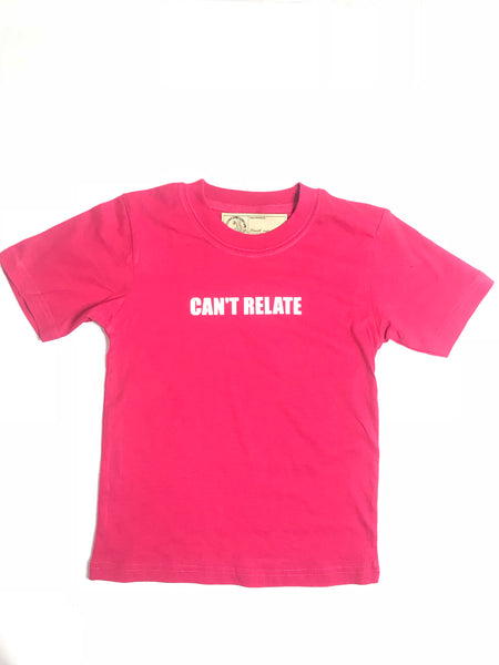 Can't relate T-shirt pink/white