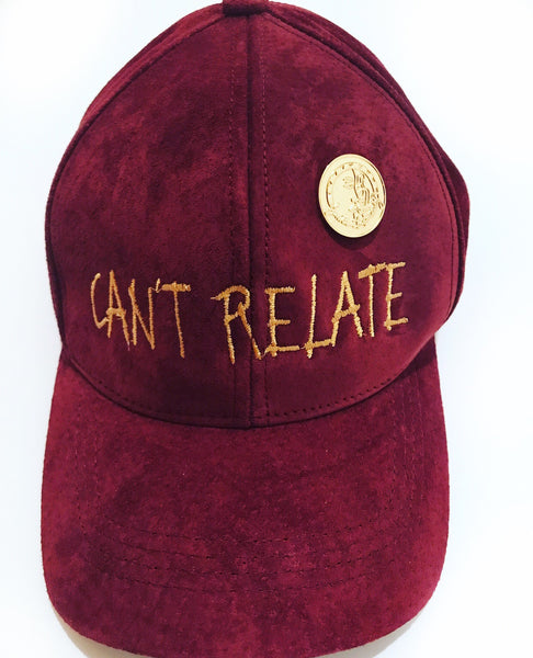 Can't relate suede dad hat by smooth individuality