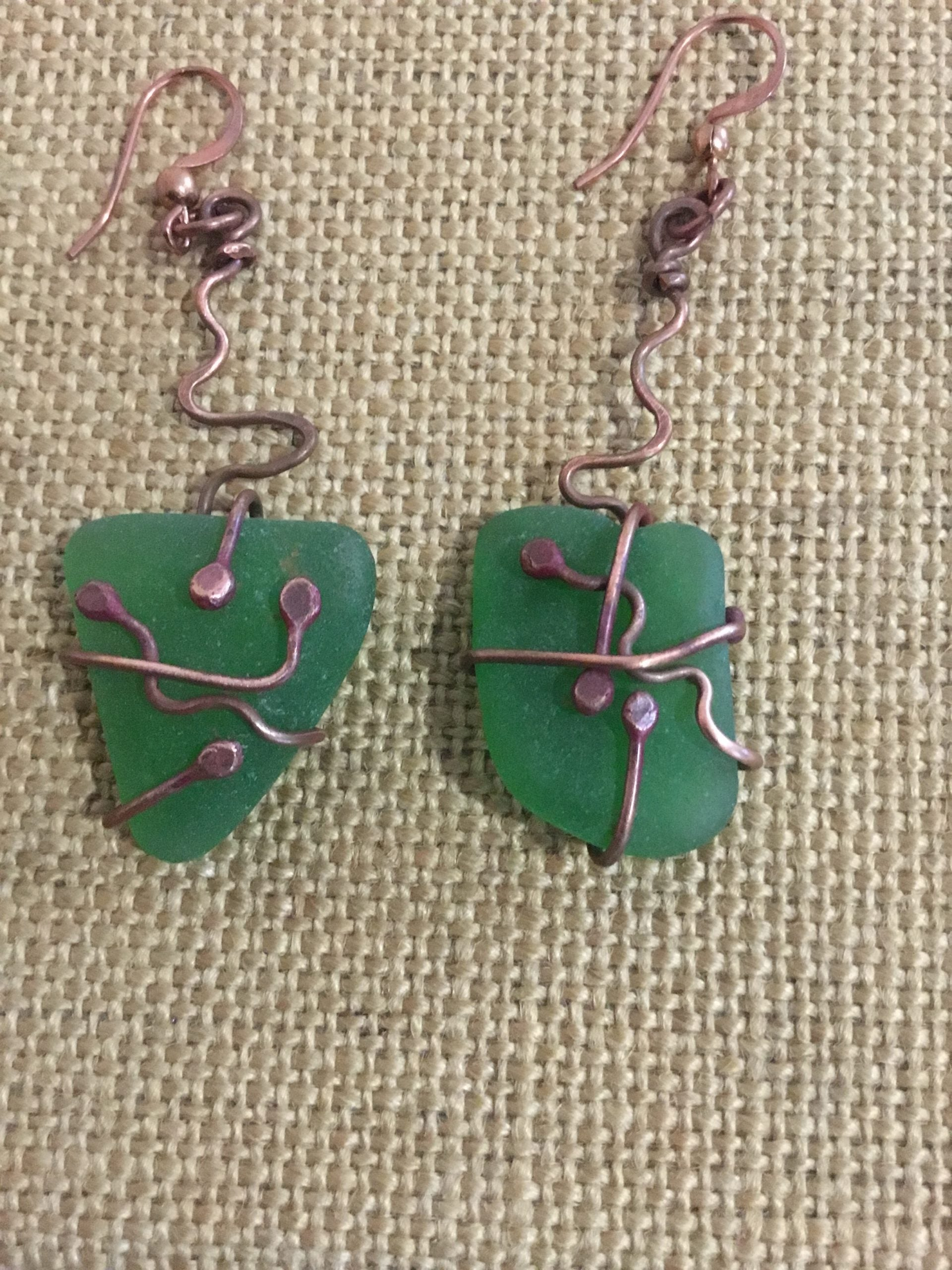 Sea glass Earrings 50