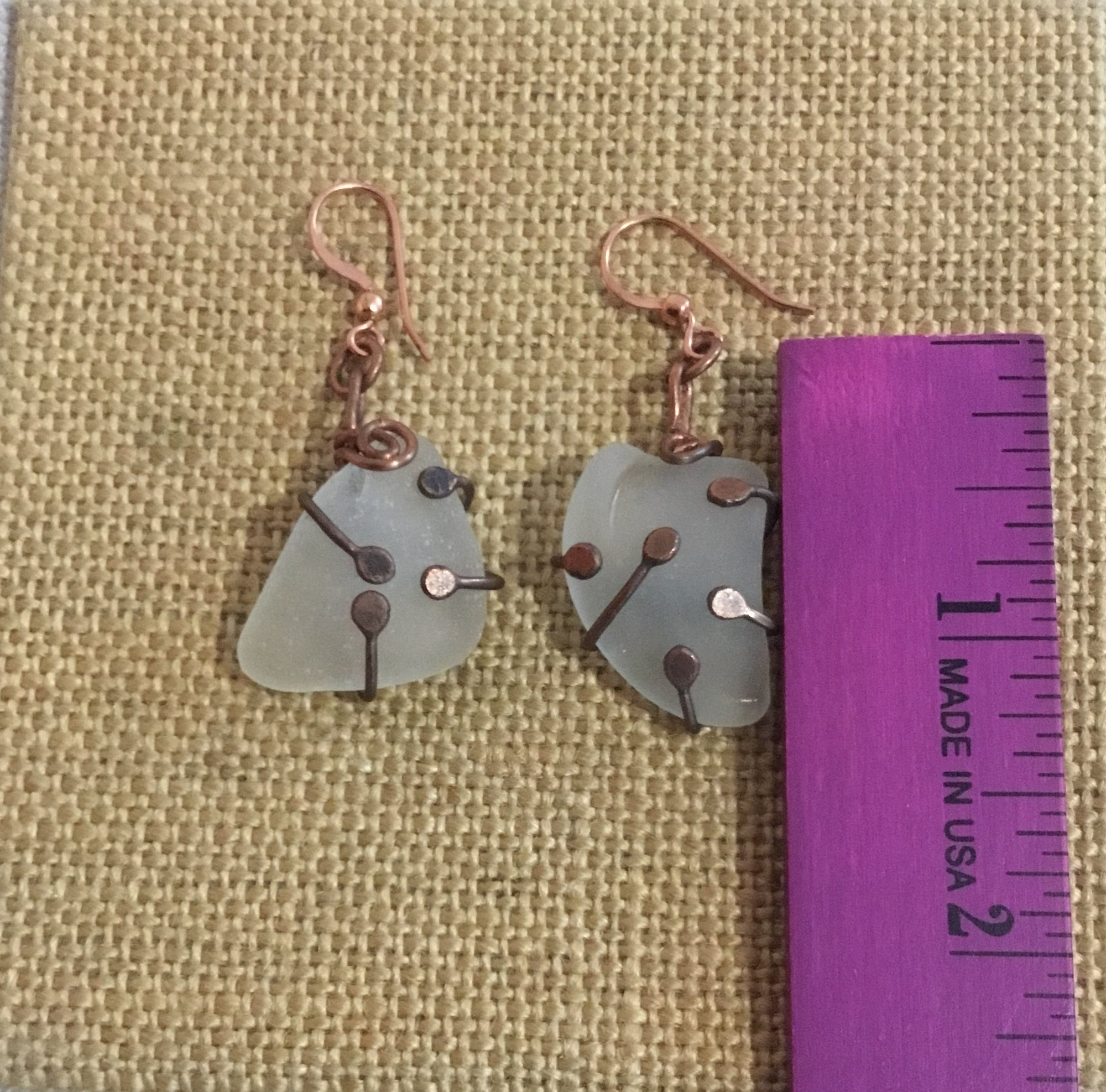 Sea glass Earrings 180