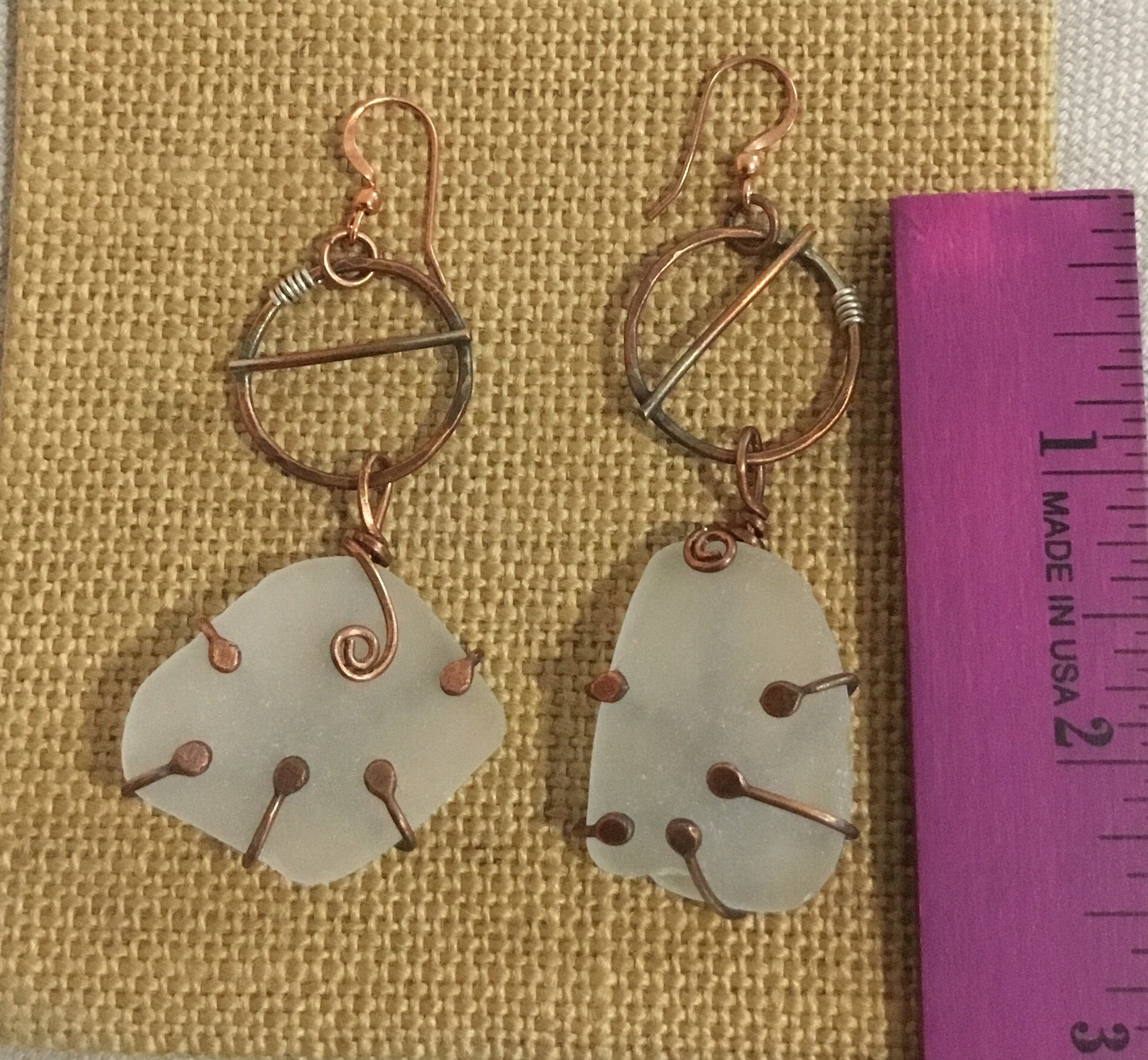 Sea glass Earrings 180B