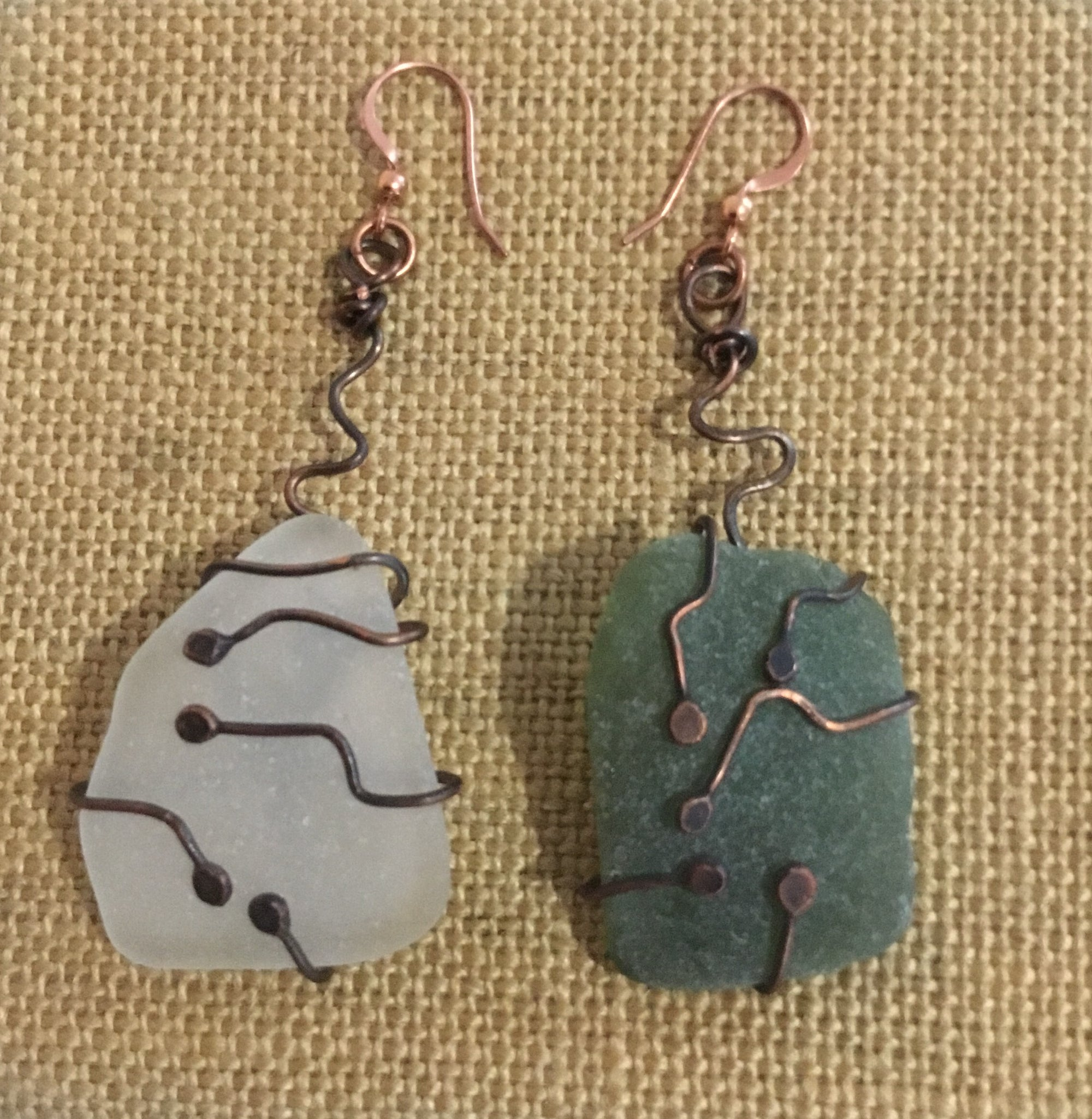 Sea glass Earrings 54