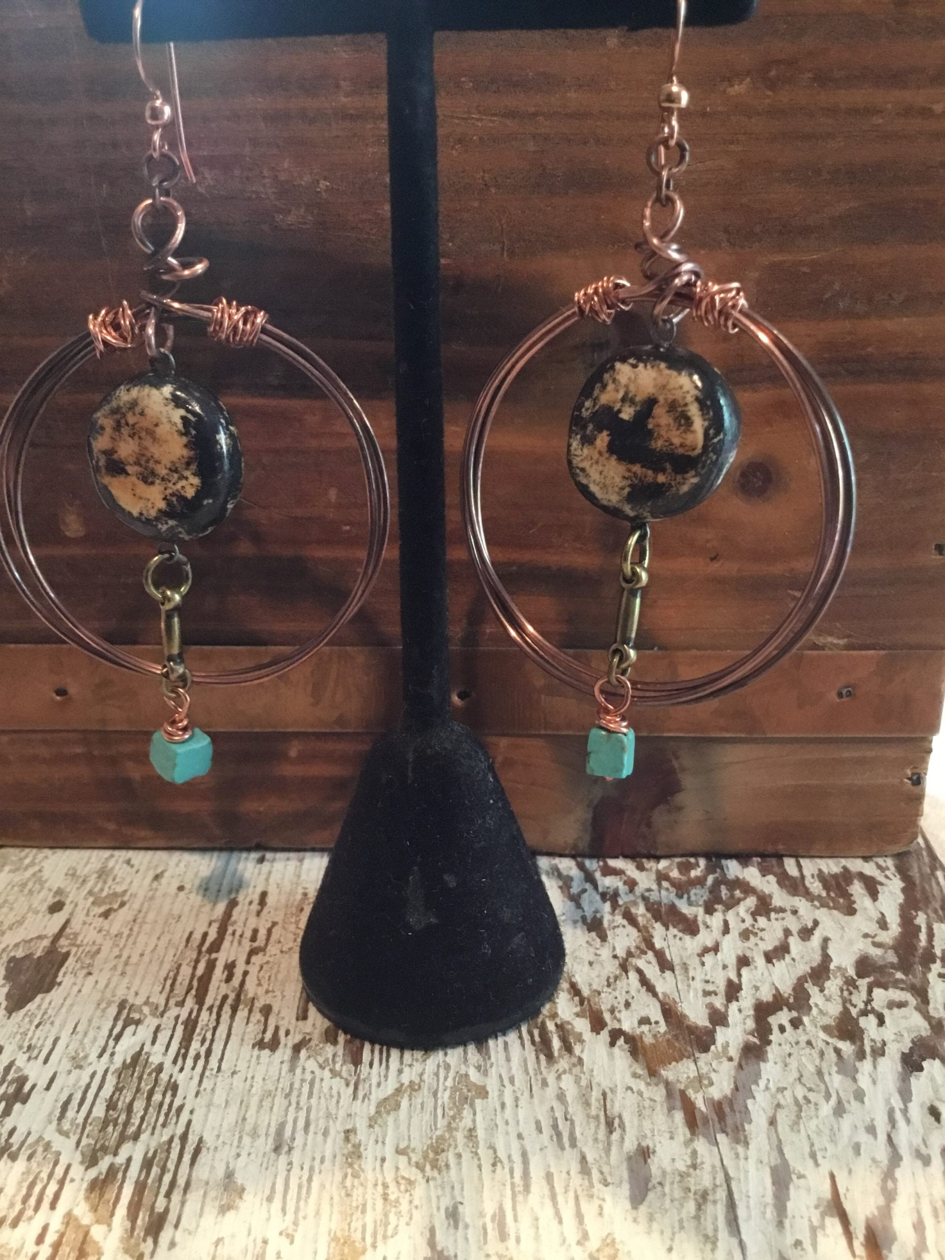Copper Mix Earrings