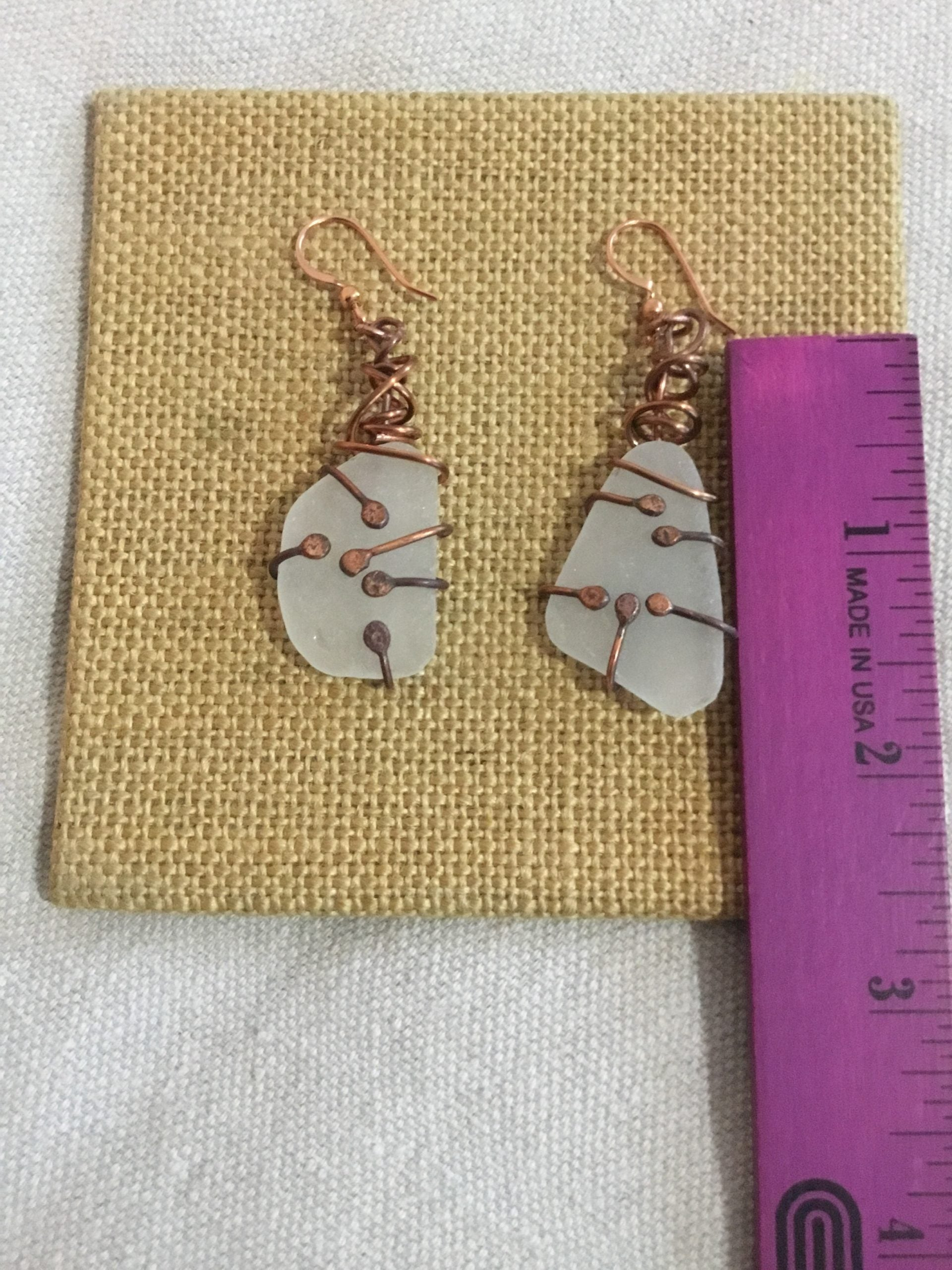 Sea glass Earrings 54 f