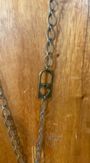 Vintage BRASS Lock and Key Necklace