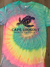 Load image into Gallery viewer, Cape Lookout Turtle Tie Dye T-Shirt