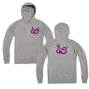 Fortress Heather Grey Zip Hoodie