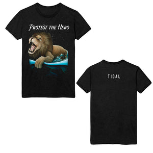 Tidal Heather Black Tee