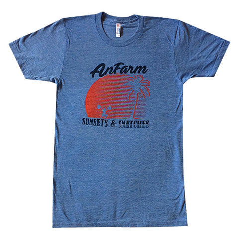 Anfarm Sunsets & Snatches Mens Tee