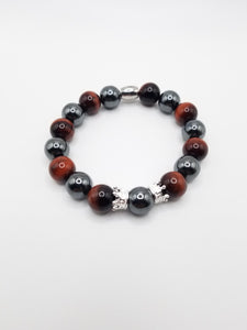 QUEEN Red Tiger's Eye and Black Hematite