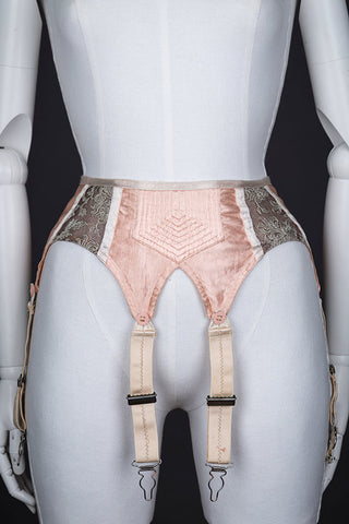 "c. 1940s Quilted Satin And Embroidered Suspender Belt Photo Print - 12x8"" Lustre Finish - PRE-ORDER, SHIPS JANUARY 2021"