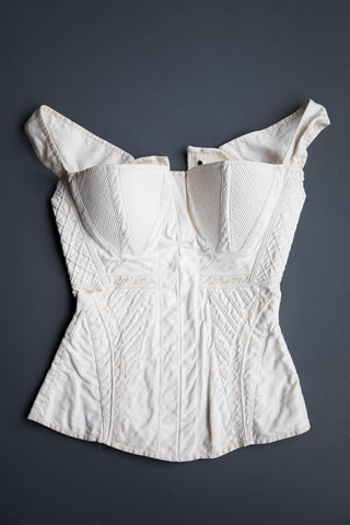 "c. 1830s Hand Stitched, Corded & Embroidered White Cotton Corset Photo Print - 12x8"" Lustre Finish - PRE-ORDER, SHIPS JANUARY 2021"