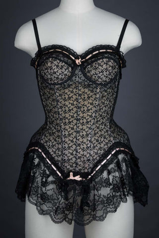 "c. 1950s Lace Flounce & Ribbonslot Corselet By Simone Pérèle Photo Print - 12x8"" Lustre Finish - PRE-ORDER, SHIPS JANUARY 2021"