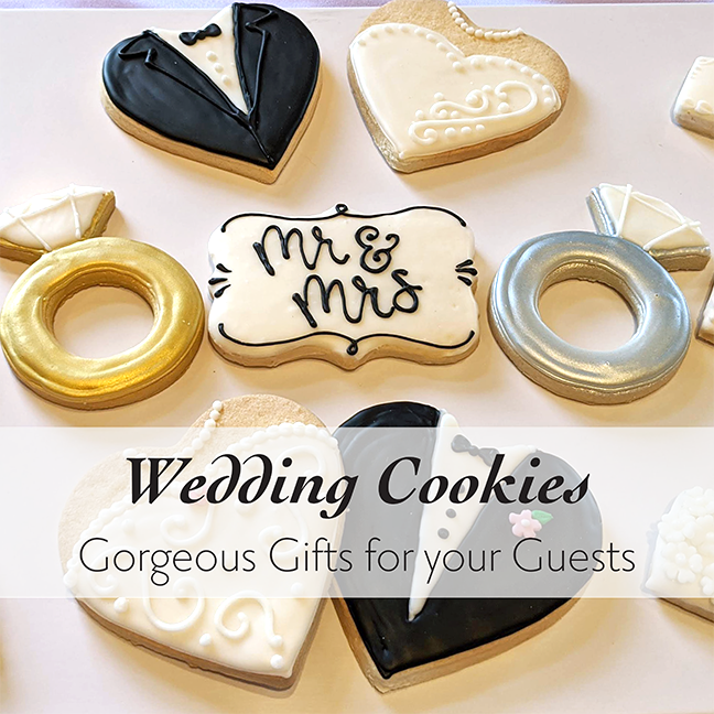 Wedding Cookies by Best Local Bakery in Chicago and North shore suburbs