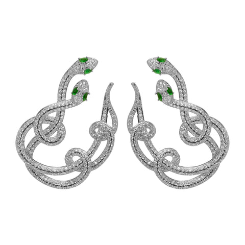Cobra Statement Earrings