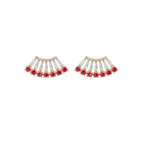Decadent Red Pear Studs