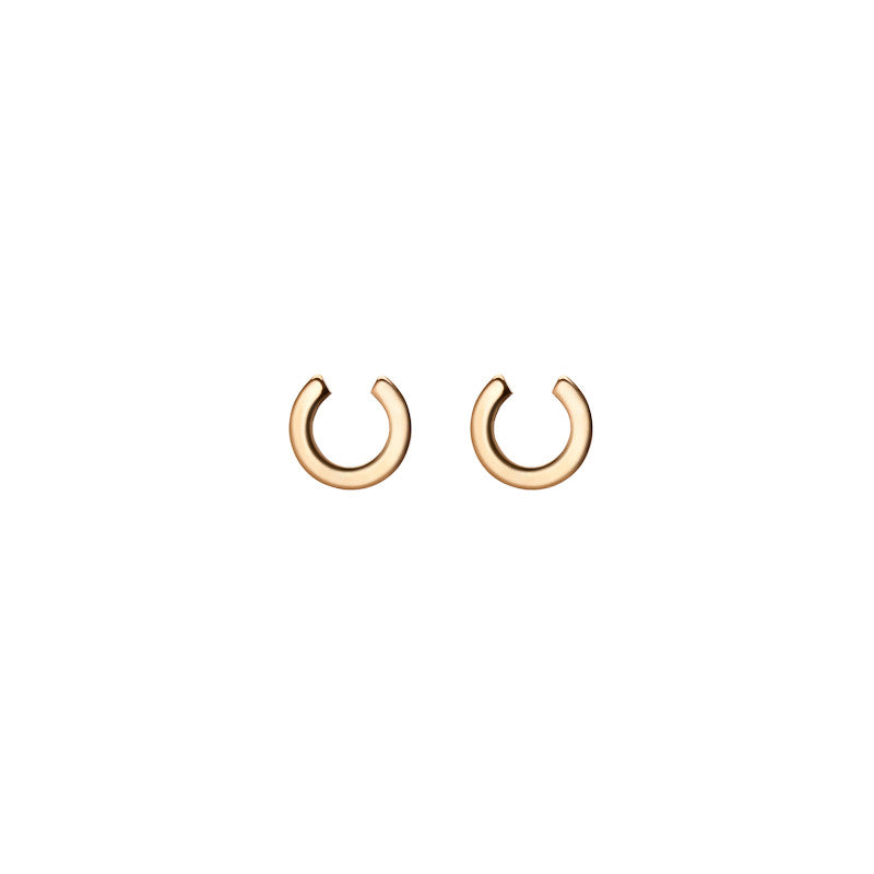 Gold Horse Shoe Studs