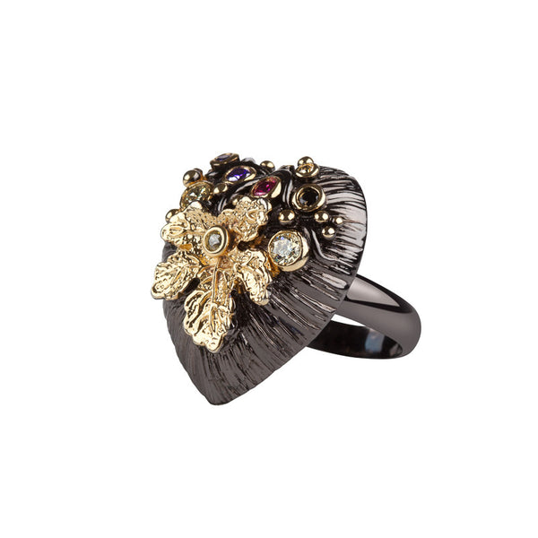 Heart La Mer Cocktail Ring