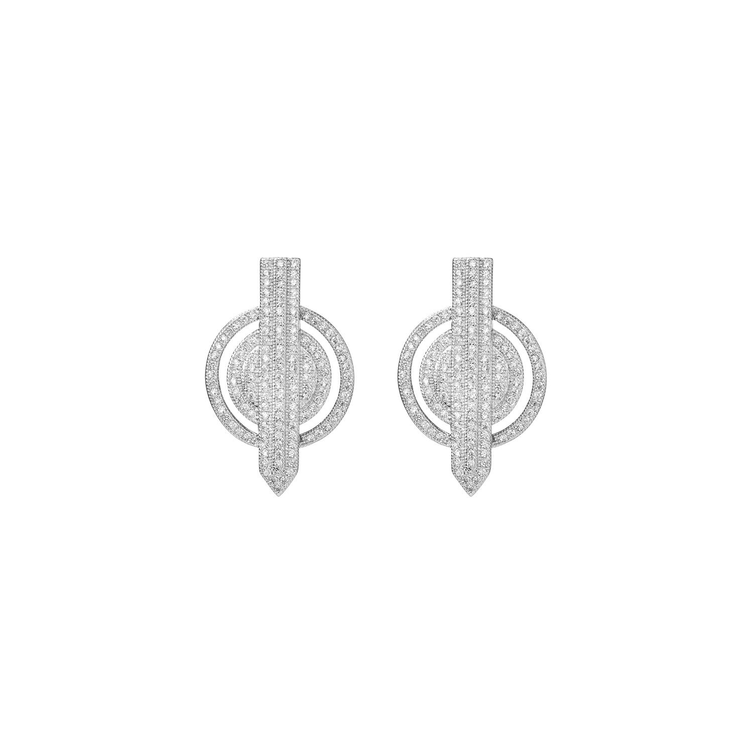 Rhodium Arrow Stud