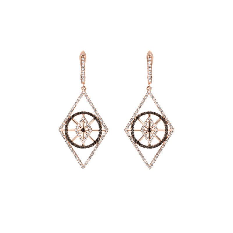Rose Gold Rhombus Earrings