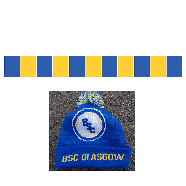 BSC Glasgow Away Hat and Bar Scarf Combo