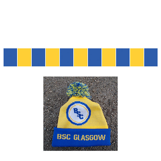 BSC Glasgow Home Hat and Bar Scarf Combo